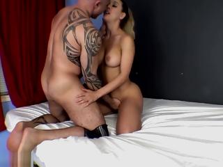 Beguilement Sex Sisterly With Cherie Deville - Handjob, Footjob, Blowjob, Creampie