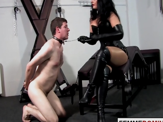 Go into hiding Mistress Smothers Bound Sub With Fat Ass