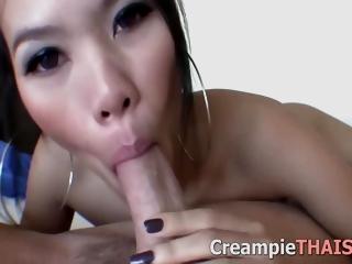 Perfect Skinny 18yo Thai Teen Creampie 10 Min