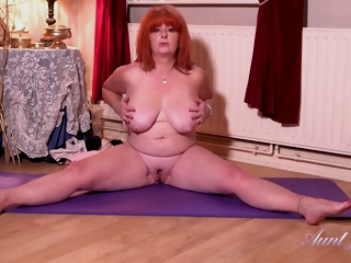 Milf Melanie Masturbates After Their way Workout