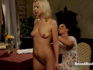 Voyeur Mistress Masturbates And Moans While Peeking On Tribadic Slave