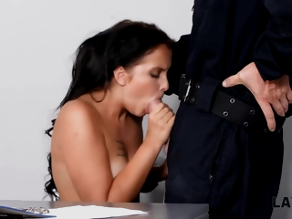 Babe Wants All round Try Sex On touching Guy In Stabilizer Officer Uniform Being Cag